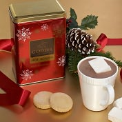 Product Image. Title: Godiva Milk Chocolate Cocoa Holiday Tin