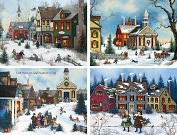 Product Image. Title: FOLK ART ASSORTED CHRISTMAS BOXED CARD