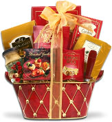 Product Image. Title: Alder Creek Holiday Greetings Gift Basket