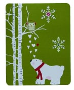 Product Image. Title: POLAR BEAR & OWL CHRISTMAS BOXED CARD