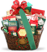 Product Image. Title: Alder Creek Grand Holiday Traditions Gift Basket