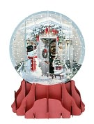Product Image. Title: HOLIDAY DOOR POP-UP SNOW GLOBE CHRISTMAS BOXED CARD