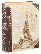 Product Image. Title: Medium Navy Eiffel Book Box 11 x 8.5