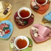 Product Image. Title: Inside Out Hearts Tea Cup & Saucer Gift Set, 5 oz