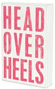 "Product Image. Title: Head Over Heels Box Sign 6.75"" x 10.5"""