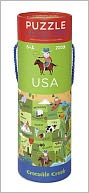 USA 200 Piece Puzzle in Tube and Poster: Product Image