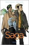 Book Cover Image. Title: Saga, Volume 1, Author: by Brian K. Vaughan