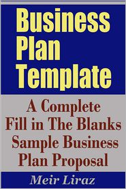 Amazoncom Business Plan Template Complete Fill in the