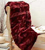 """Product Image. Title: Plush Luxe Claret Faux Fur Throw (50"""" x 60"""")"""