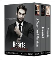 Claire Kent Noelle Adams - Hearts in Hiding (collection of three full-length novels)