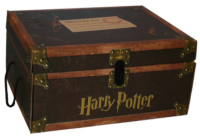 Harry Potter Book Trunk ~ Harry potter hard cover boxed set trunk books hardback