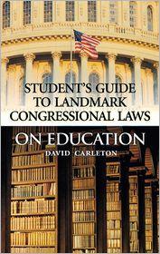 Landmark Congressional Laws on Educatio...