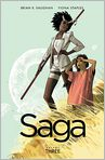 Book Cover Image. Title: Saga, Volume 3, Author: by Brian K. Vaughan