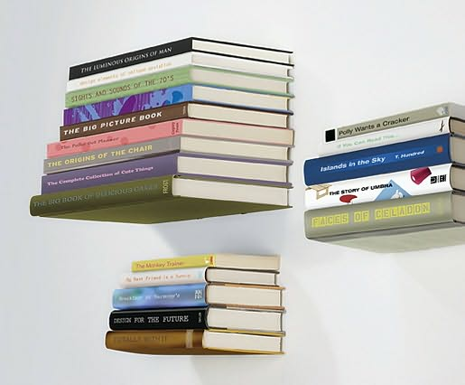 Floating Bookshelves create your own floating bookshelves | artistic things