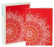 Product Image. Title: Unicef Red Snowflake Christmas Boxed Cards