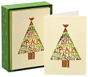 Product Image. Title: Peace Hope Tree Christmas Boxed Cards