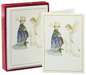 Product Image. Title: Rockwell King and Angel Christmas Boxed Cards