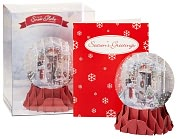 Product Image. Title: Holiday Door Pop-Up Snow Globe Christmas Boxed Cards