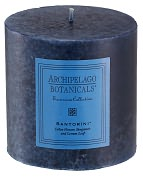 """Product Image. Title: Blue Santorini Scented Pillar Candle 3.5"""" x 3.5"""""""