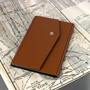 Product Image. Title: Passport Holder Cognac