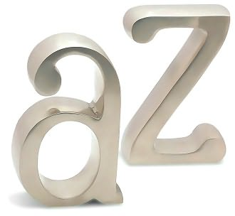 Satin Finish A to Z Bookends (Set of 2), Punctuate - Barnes & Noble :  bookends