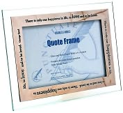 "Product Image. Title: Happiest Moments Metal Finish Quote Frame (4""x6"" )"