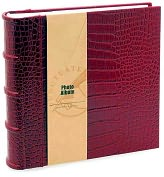 Product Image. Title: Red Crocodile Embossed Photo Album 8.5x9