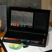 Product Image. Title: Artist's 78-Piece Pencil Set -- Black Vinyl Case