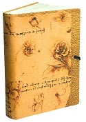 Product Image. Title: Fiori Da Vinci Tan Italian Leather Printed Journal with Tie 6x8