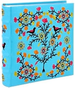 Product Image. Title: Tree of Life Blue Embroidered Photo Album