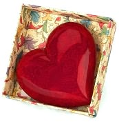 Product Image. Title: Absolute Red Heart Italian Alabaster Paperweight