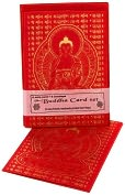 Product Image. Title: Red Buddha Nepalese Notecard set of 6