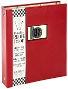 Product Image. Title: Bon Appetit Recipe Book Red/Black 9x8