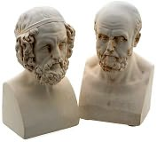 Product Image. Title: Homer and Aristotle Cast Marble Bookends Set of 2