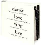 Product Image. Title: Dance Love Sing Black & White Quotable Address Book 7X7