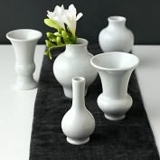 Product Image. Title: Williamsburg Chinois set of 5 Mini Vases White