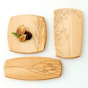 Product Image. Title: Small Plates Set of 3: Ginkgo Leaves, Olive Branch, Glass Flower