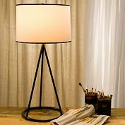 Product Image. Title: Nina Tapered Table Lamp in Bronze with Cotton Shade