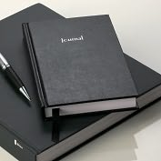 "Product Image. Title: Basic Black Lined Journal (5""x 8"")"