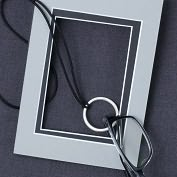 Product Image. Title: Small New Circle Eyecatcher lead free pewter palladium finish