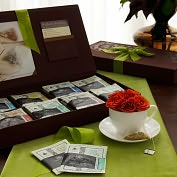 Product Image. Title: Linen Tea Chest 8 Slot