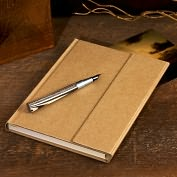 "Product Image. Title: Natural Kraft Magnetic Wrap Journal (6""x8"")"