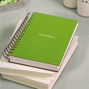 Product Image. Title: 100% Recycled Jumbo Green Rethink Spiral Journal
