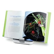 Product Image. Title: Chef's Center White &amp; Silver Cookbook Holder