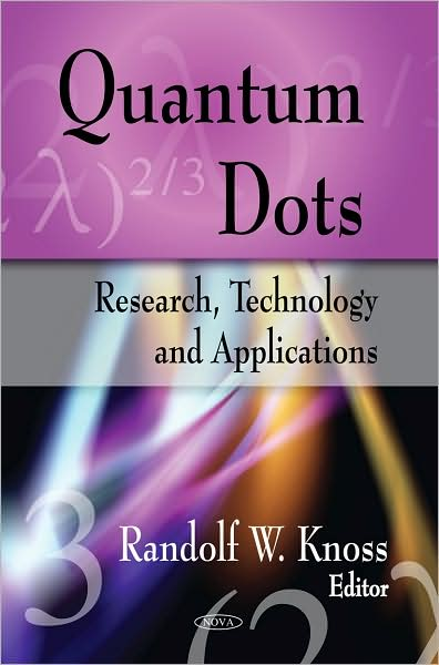 quantum dots research paper Five years have passed since then and i can certainly draw a positive balance i am very happy, in particular, for having had the chance to work on different research projects in collaboration with many people we built a laboratory, studied different types of quantum dots and distilled in papers what we had learned things.