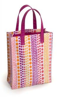 Jonathan Adler Weight Pink & Orange PVC Fabric Mini Tote (10