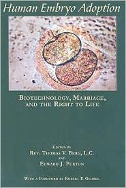 Human Embryo Adoption by Thomas V. Berg: Book Cover