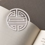 Product Image. Title: Shou Stainless Steel Bookmark