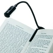 Product Image. Title: 2 LED Black Spike Light Clip-on Booklight