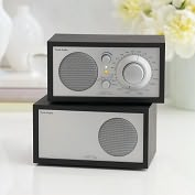 Product Image. Title: AM/FM Table Radio with Additional Speaker - Black Ash/Silver